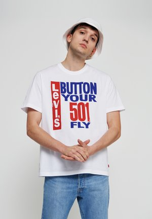 501 DAY RELAXED FIT TEE  - T-shirt imprimé - white