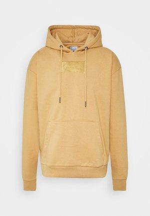 SMALL SIGNATURE BOX HOODIE - Hoodie - beige