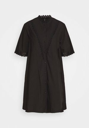 A LINE SHIRT DRESS  - Korte jurk - black