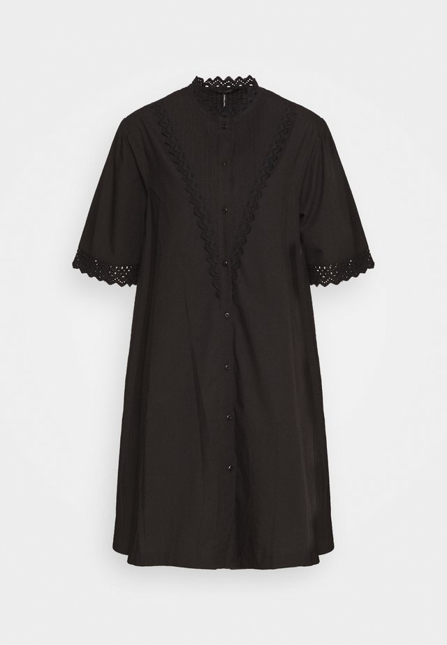 A LINE SHIRT DRESS  - Vestito estivo - black