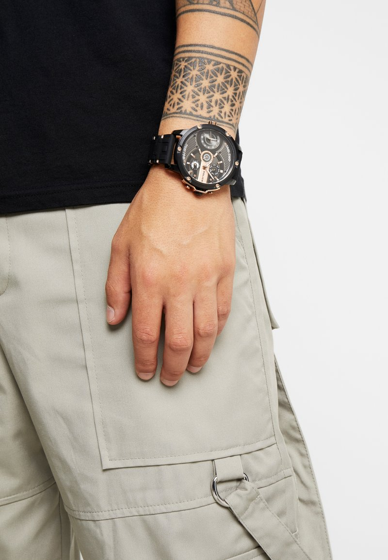 Police - SPECIAL SET - Chronograph watch - black/rose gold-coloured