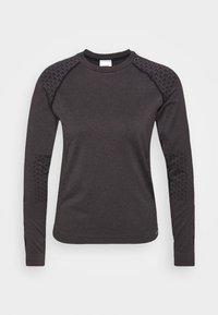 Hummel - CI SEAMLESS - Funkční triko - black melange - 5