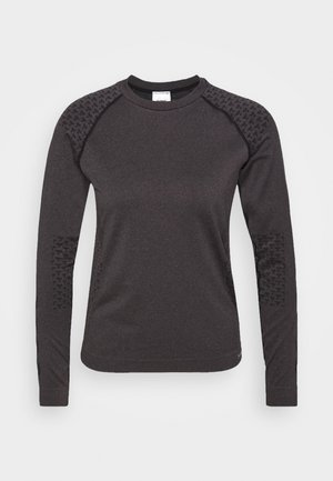 CI SEAMLESS - Sports shirt - black melange