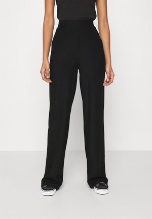 WIDE POCKET PANTS - Stoffhose - black