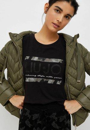Print T-shirt - schwarz camouflage