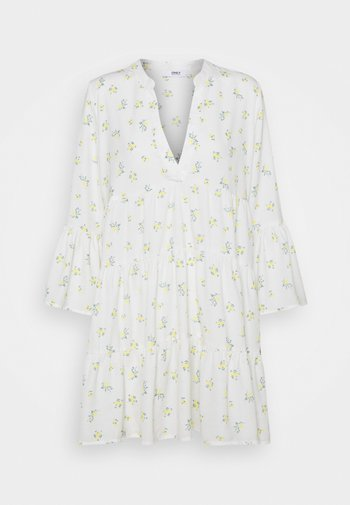 ONLATHENA 3/4 DRESS - Kjole - white