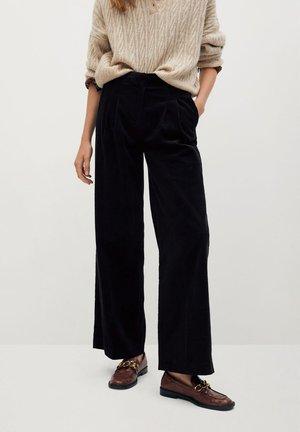 WALES - Pantalon classique - noir
