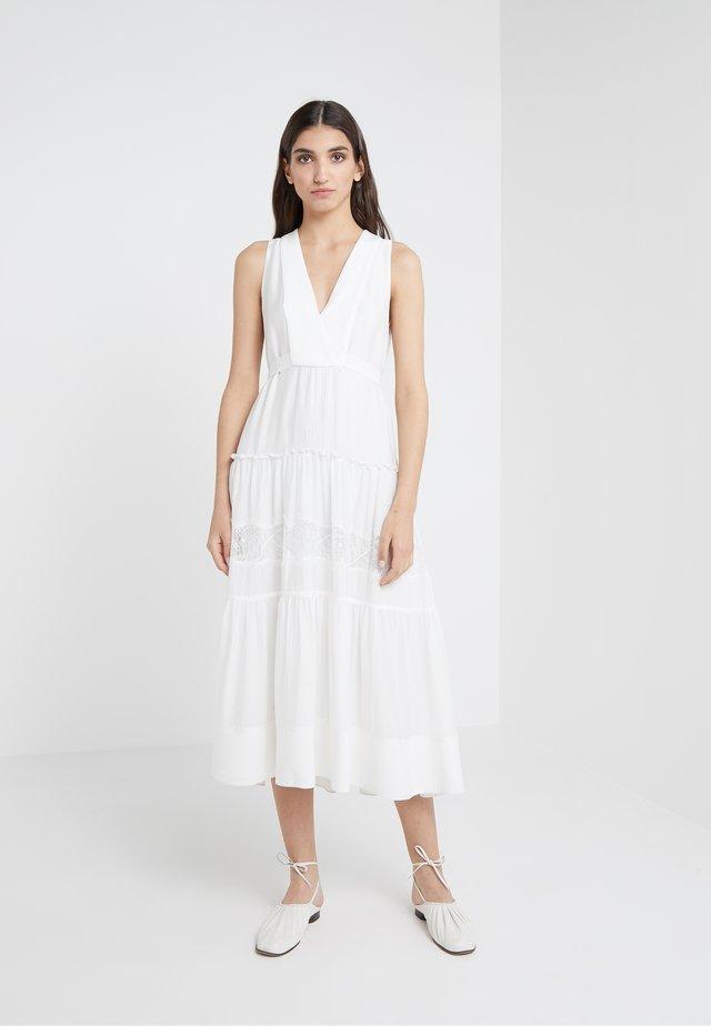 BELTED DRESS  - Maxi dress - ivory