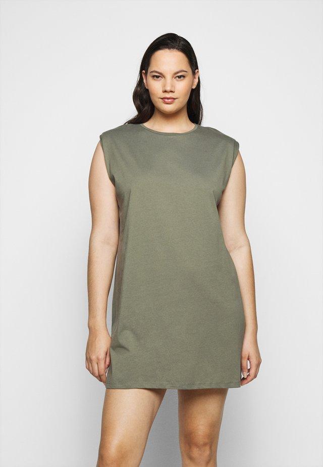 PCLIZ DRESS - Vestito di maglina - deep lichen green