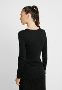 Cotton On - HENLEY SLEEVE - Bluzka z długim rękawem - black - 2