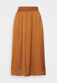 NAF NAF - SATEENE  - A-line skirt - caramel - 0