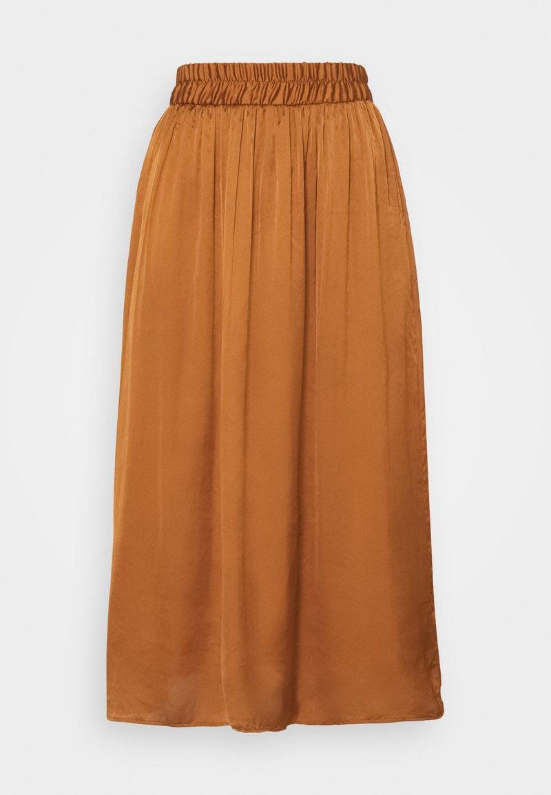 NAF NAF - SATEENE  - A-line skirt - caramel