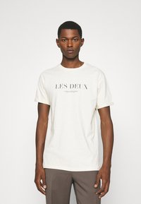 Les Deux - AMALFI  - Print T-shirt - ivory/dark navy - 0