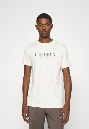AMALFI  - Print T-shirt - ivory/dark navy