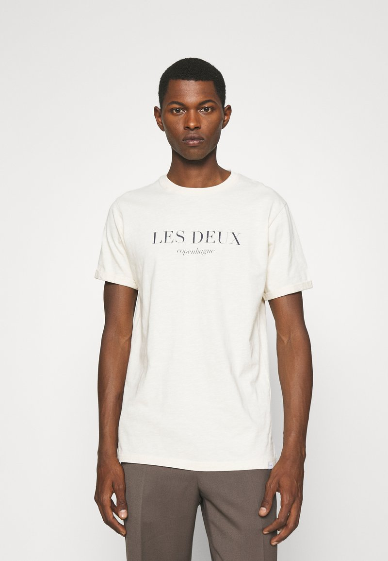 Les Deux - AMALFI  - Print T-shirt - ivory/dark navy
