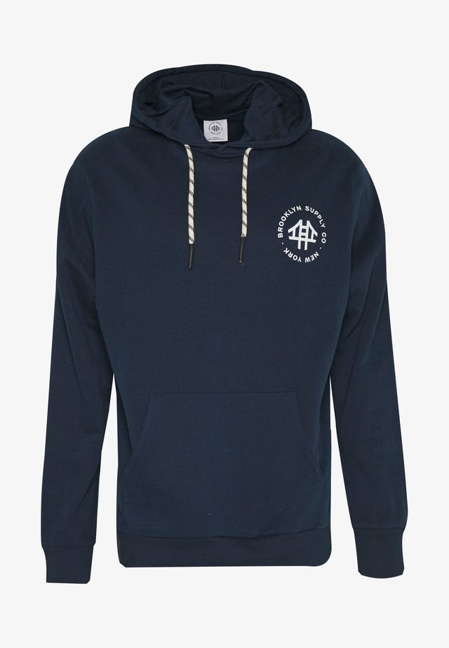 LOGO HOODY - Sweat à capuche - navy