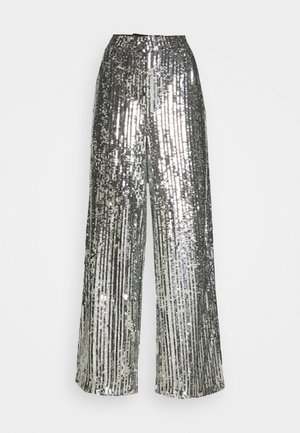 FLOWY PANTS - Trousers - silver