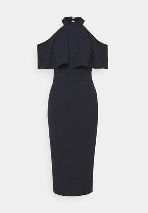 AUDREY HALTER NECK MIDI DRESS - Vestido de cóctel - navy blue