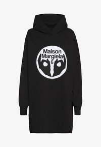 MM6 Maison Margiela - LOGO HOODIE DRESS - Žerzejové šaty - black - 5