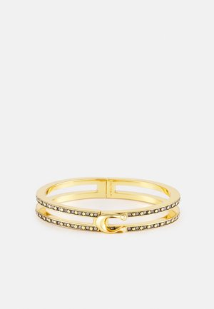 DOUBLE ROW PAVE HINGED BANGLE - Pulsera - gold-coloured