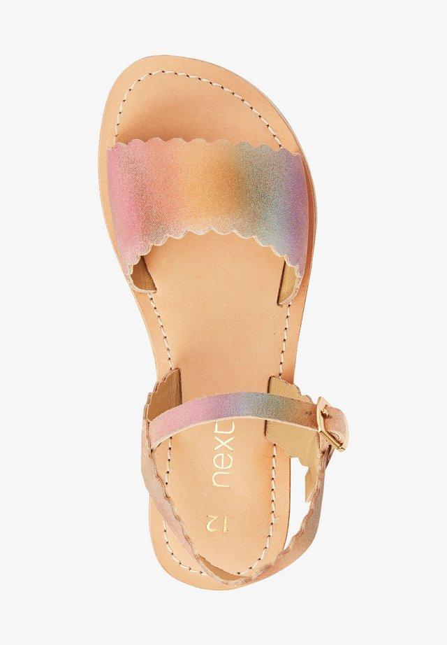 PINK LEATHER SCALLOPED SANDALS (OLDER) - Sandals - multi-coloured
