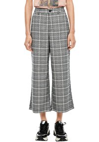 Q/S designed by - KARIERTE CULOTTE - Trousers - black check - 0