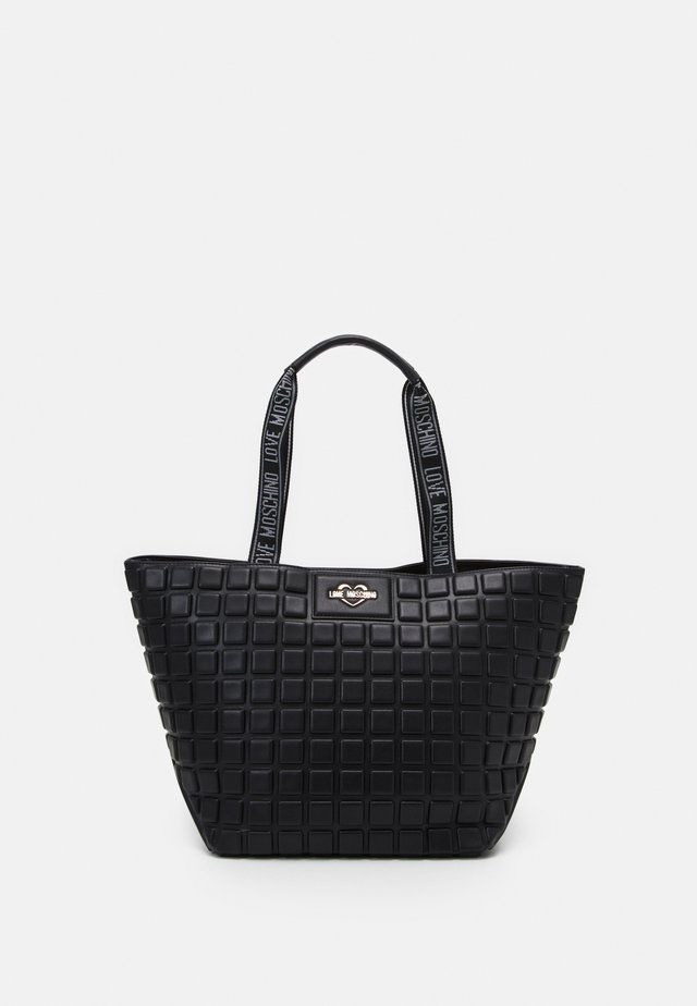 EMBOSSED SOFT - Handtas - nero