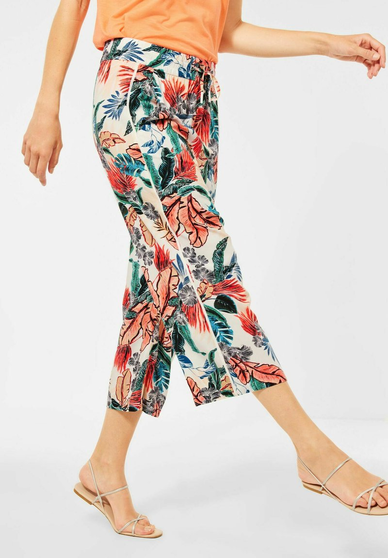 Cecil - LOOSE FIT - Trousers - weiß