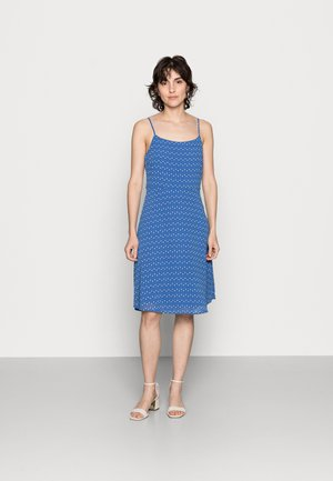 STRAPPA FIT AND FLARE - Day dress - blue, white