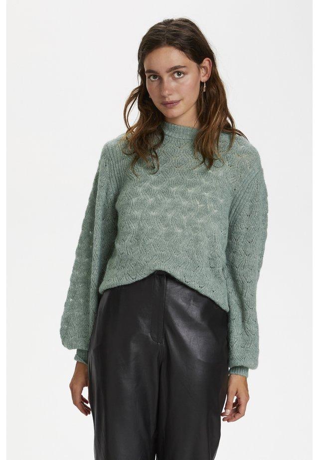 POINTA  - Stickad tröja - hedge green