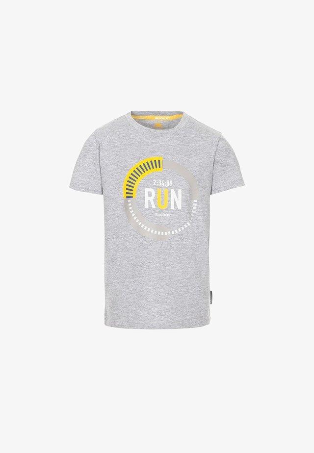 UNDAUNTED - Print T-shirt - grey