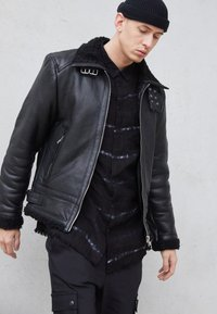 Be Edgy - AUSTIN - Leather jacket - black - 4