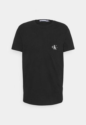 MONOGRAM POCKET TEE - Triko s potiskem - black