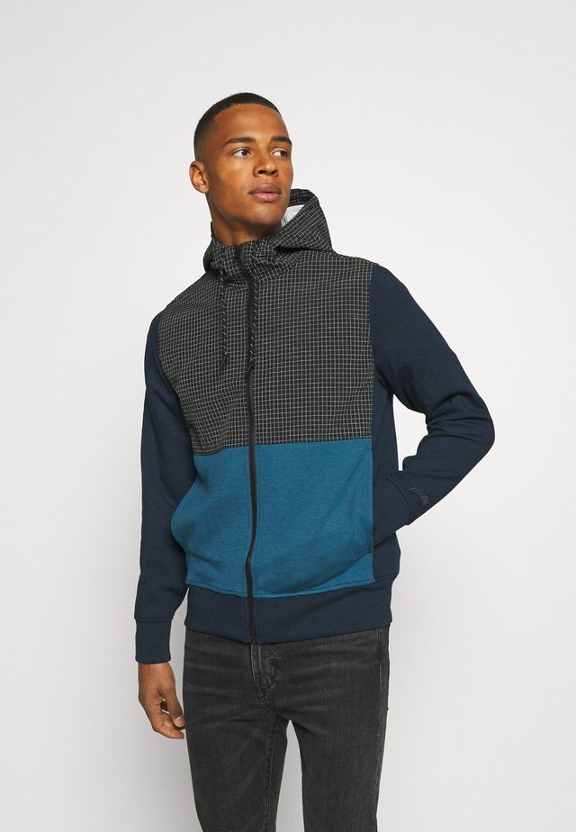 COLORBLOCK MANCHEGO - veste en sweat zippée - navy