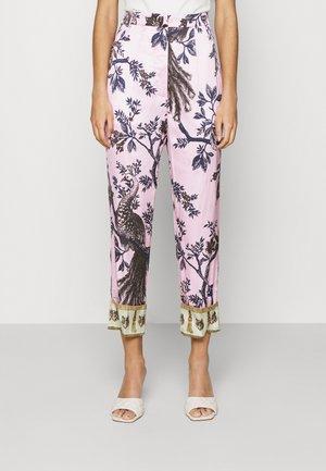 PANTS - Trousers - pink/coffee/mustard