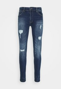 Denim Project - MR RED - Jeans Skinny Fit - dark blue destroy - 3