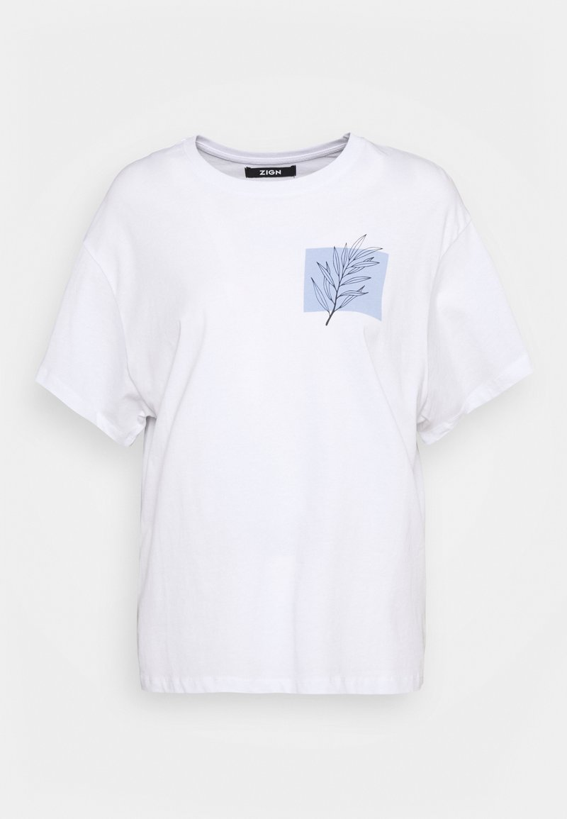 Zign - Print T-shirt - white