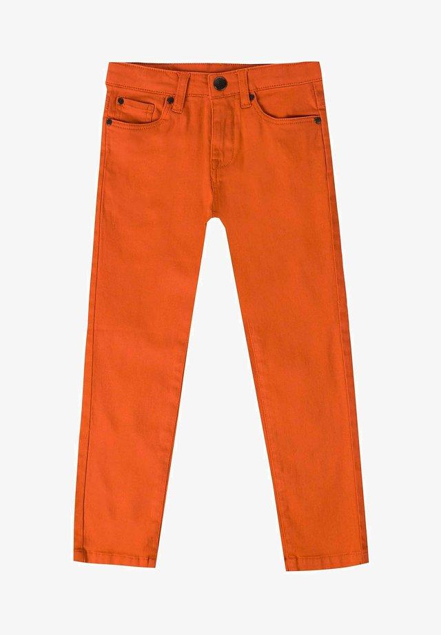 Straight leg jeans - naranja
