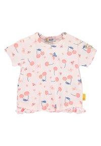 Steiff Collection - STEIFF COLLECTION T-SHIRT MIT RÜSCHEN - Print T-shirt - barely pink - 0