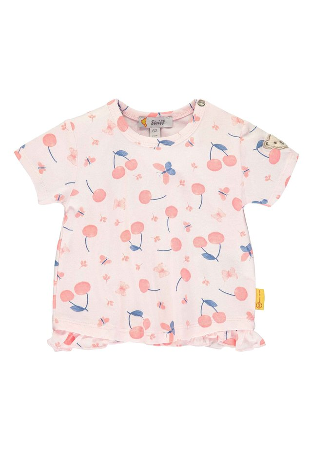 STEIFF COLLECTION T-SHIRT MIT RÜSCHEN - Print T-shirt - barely pink