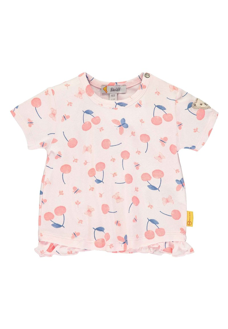 Steiff Collection - STEIFF COLLECTION T-SHIRT MIT RÜSCHEN - Print T-shirt - barely pink