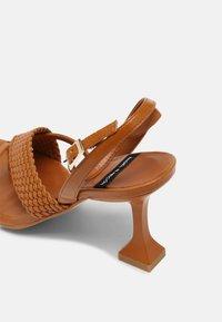 ÁNGEL ALARCÓN - VEGAN - Sandály s odděleným palcem - tabaco - 5