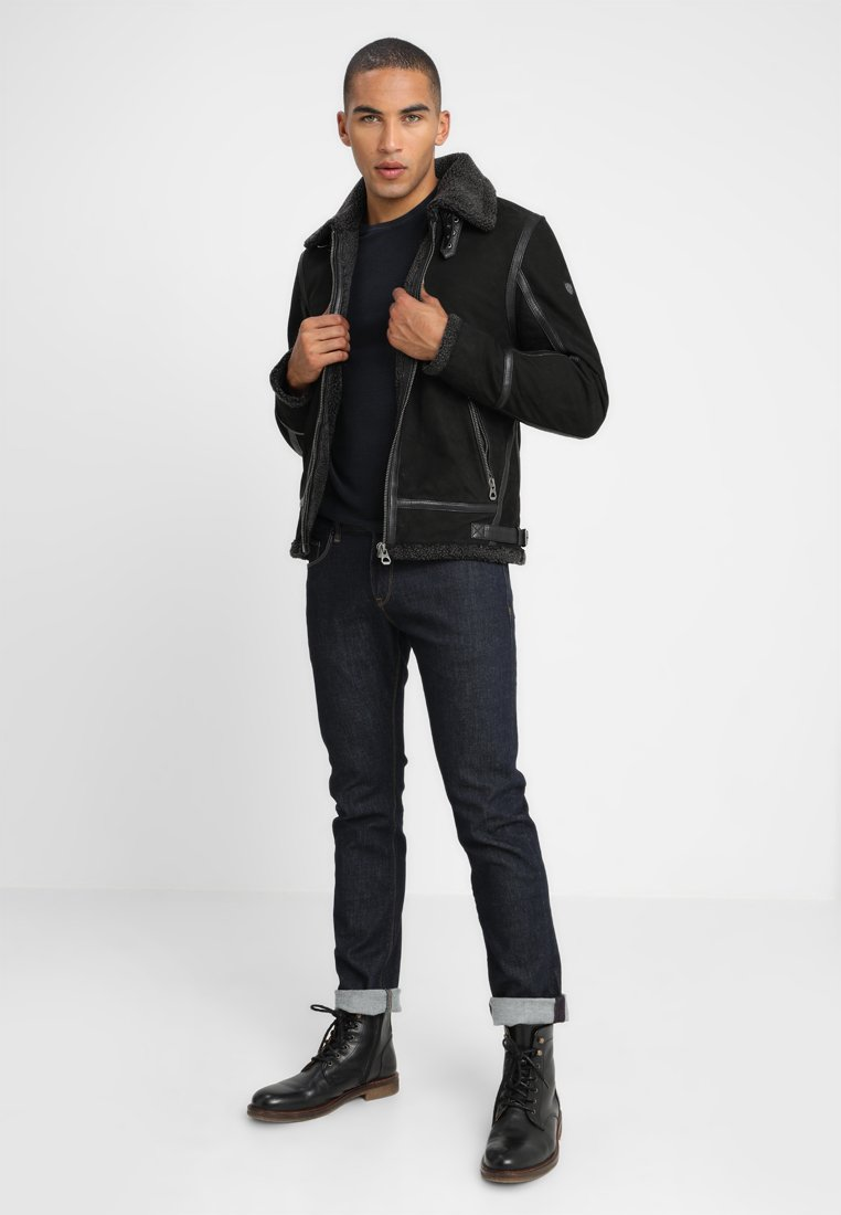 Gipsy AIR FORCE - Veste en cuir - schwarz
