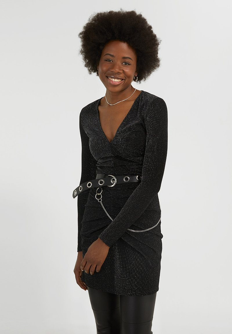 YOUNG POETS SOCIETY - YAMILA  - Cocktail dress / Party dress - black glitter