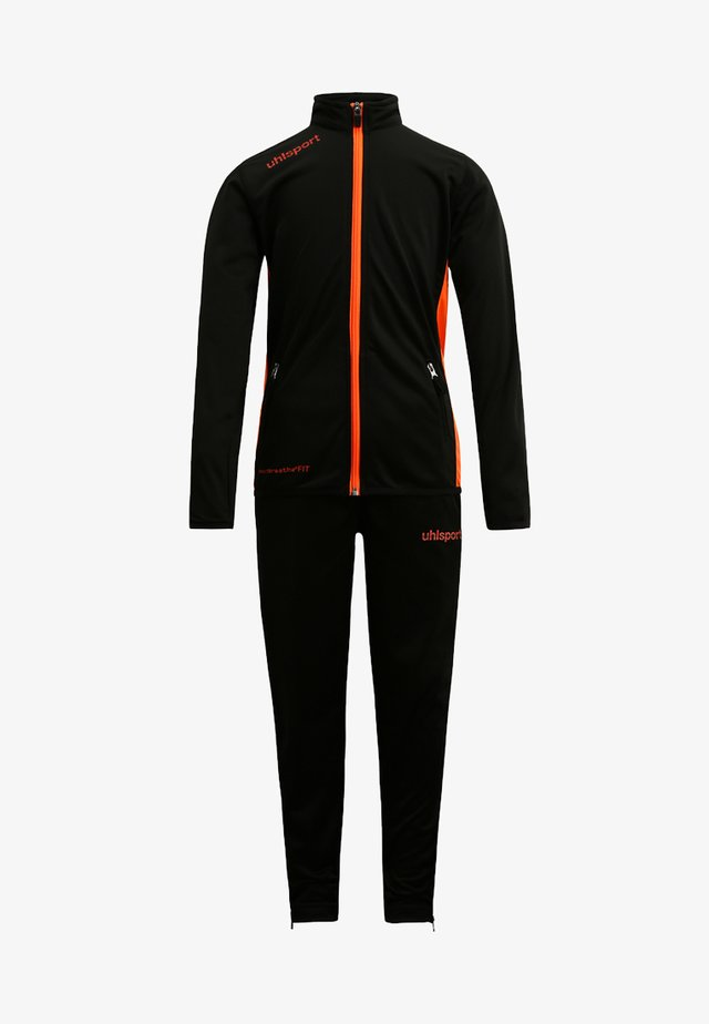 ESSENTIAL CLASSIC SET - Tracksuit - schwarz/fluo orange