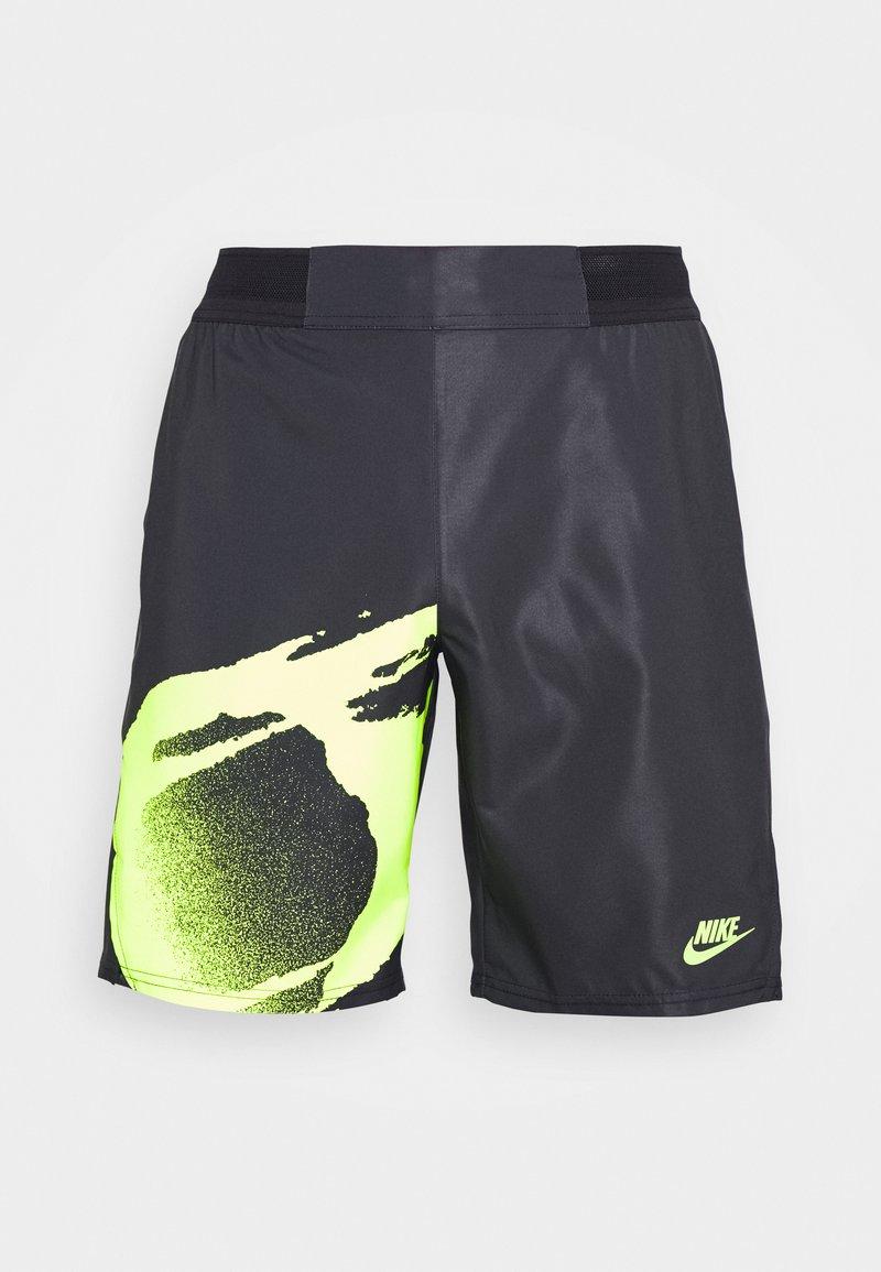 Nike Performance - SLAM - Sports shorts - black/hot lime/hot lime