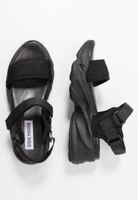 Steve Madden - PLAYERS - Platform sandals - black - 3
