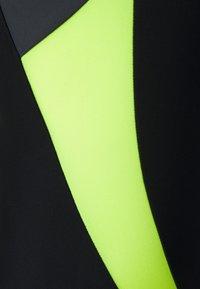 Speedo - LOGO - Swimsuit - black/fluo yellow/oxid grey - 2