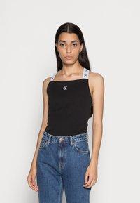 Calvin Klein Jeans - SQUARE NECK TANK - Top - black - 0