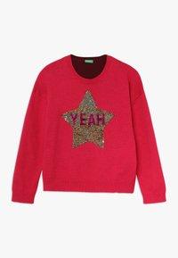 Benetton - Stickad tröja - pink - 0